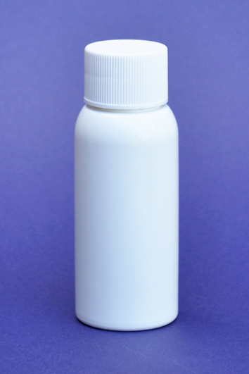 SNSET-50WBPETWCTC-50ml White Boston PET Bottle with Fine Ribbed White Continuous Thread Cap 24/410