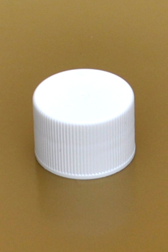 SNDR-PLW28410-WHITE PLASTIC CAP, FINE RIBBED CLOSURE WITH A 28/410 FINISH