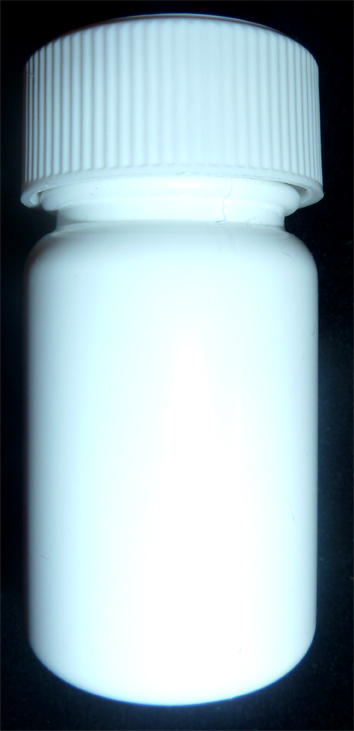 SNSET-PB35WCRL-35ml HDPE Pill Bottle with White Fine Ribbed Child Resistant Cap