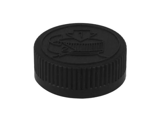 "SNDC-31347-BLACK CHILD RESISTANT CAP, RIBBED CLOSURE WITH A 33/400 FINISH, INCLUDES A ""SEALED FOR YOUR PROTECTION"" HS035 HEAT SEAL LINER, PICTORAL INSTRUCTIONS"