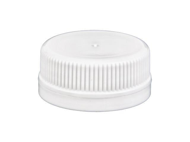SNDR-30719-WHITE PLASTIC CAP, FINE RIBBED TAMPER EVIDENT CLOSURE WITH A 38MM FINISH, TAMPER EVIDENT RING, SMOOTH TOP, PLUG SEAL