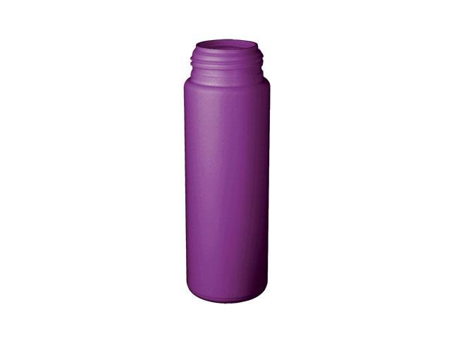 SNEP-24823-PURPLE PLASTIC BOTTLE, 200 ML HDPE CYLINDER ROUND WITH A 43MM FINISH, FOAMER STYLE (Lids sold separately)