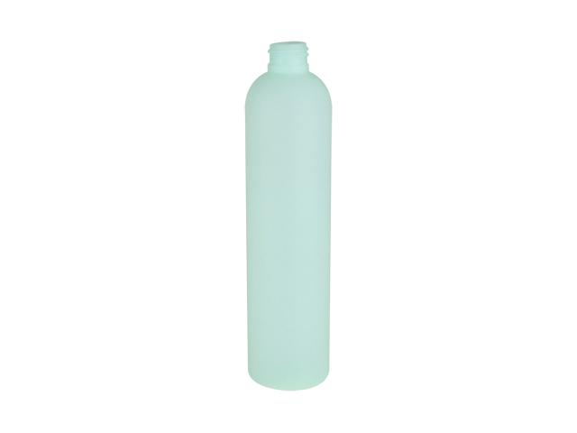 SNEP-25550-PLASTIC BOTTLE, 325 ML HDPE BULLET WITH A 24/410 FINISH, SOFT TOUCH, TRANSLUCENT LIGHT GREEN