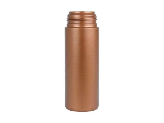 SNEP-26615-BRONZE PLASTIC BOTTLE, 6 OZ. HDPE CYLINDER ROUND WITH A 43MM FINISH, FOAMER STYLE