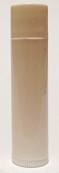 SNLIPWW-0.15Oz (4.4ml) White Cylindrical Lip Balm Tube with White Cap