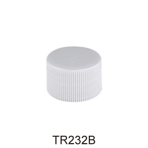 WHITE PLASTIC CAP, FINE RIBBED CLOSURE WITH A 24/410 FINISH