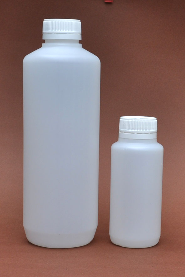 SNSET-1LHDPEDGWTPL-1000ml HDPE Dangerous Goods Natural Cylindrical Bottle with 38mm White Tamper Resistant Lids