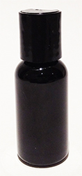 SNSET-1OZBBPETBDTL-1 Oz (~29ml) Black Boston PET Bottle with 20/410 Black Disc Top Lid