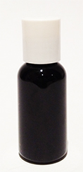 SNSET-1OZBBPETWDTL-1 Oz (~29ml) Black Boston PET Bottle with 20/410 White Disc Top Lid