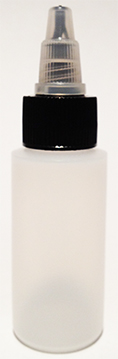 SNSB1OZCYBNTTL-1 Oz (~29.6ml) Natural Squeezer Cylindrical Bottle with square shoulder with Black/Natural Twist Top Lid