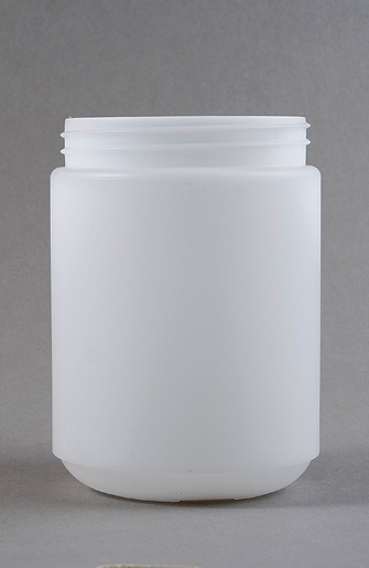 1000ml Natural HDPE Tall Round Jar with 95mm Screw Finish with White Tamper evident screw top lid