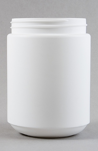 1000ml White HDPE Tall Round Jar with 95mm Screw Finish