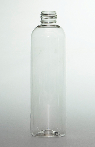 SNEP-250CLPETB-250ml Clear PET Boston Bottle 24mm 410 Screw Finish