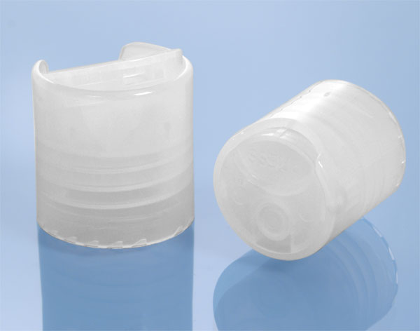 SNDD-26650N-NATURAL DISPENSING CAP, SMOOTH DISC-TOP CLOSURE WITH A 20/410 FINISH