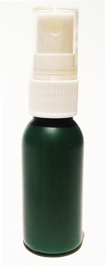 SNSET-4237-30ml Dark Green HDPE Boston Bottle with 18/415 White Fine Mist Sprayer