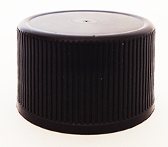 SNDR29602-38mm Black Ribbed Continuous thread cap