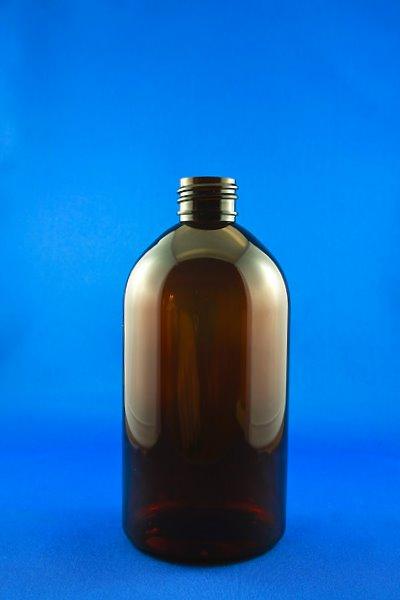 SNEP-500APETBB-500ml Amber PET Bell Bottle with 28/410 Neck