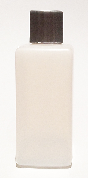 SNSET-22077-PLASTIC BOTTLE 8 OZ. Natural HDPE SQUARE WITH A 28/415 Continuous thread ribbed lid