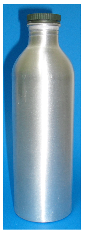 Aluminium Boston Shaped Bottle 500ml with Lid as shown