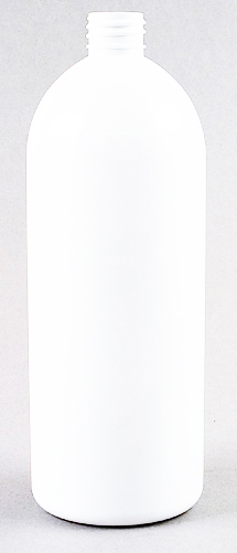 SNEP-50993-1000ml White PET Tall Boston Bottle 28mm 410 Finish-235mm tall, 84mm dia