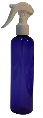 SNSET-B250PETCBWSNS-Plastic Bottle-Boston-Cobalt Blue-250ml with White Swan Neck Sprayer