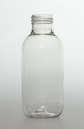 SNEP-100CLPETB-100ml Clear PET Boston Bottle 24mm 410 Screw Finish