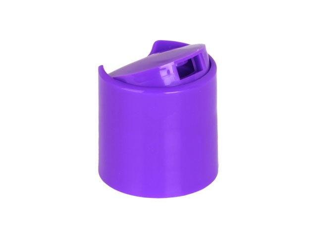 "SNDD-26890-PURPLE DISPENSING CAP, SMOOTH DISC-TOP CLOSURE WITH A 28/410 FINISH AND A .330"" ORIFICE"