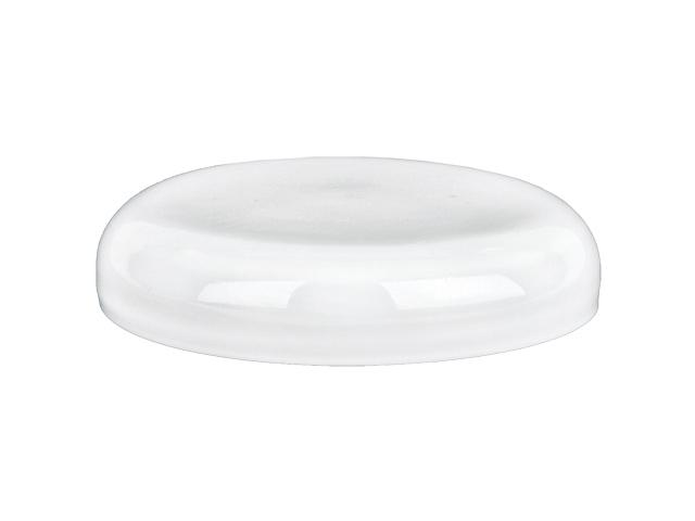 SNDR-28640-WHITE PLASTIC JAR LID, SMOOTH DOMED STYLE CLOSURE WITH A 89/400 FINISH, LINERLESS
