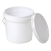 SNDP-18881-WHITE 10L Pail with lid and metal handle