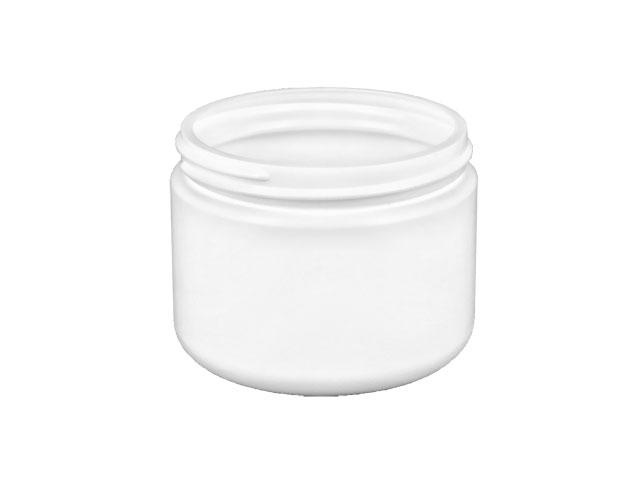 SNEJ-25425-WHITE PLASTIC JAR, 14 OZ (414ml). HDPE SINGLE WALL ROUND WITH AN 89/400 NECK FINISH, ROUND BASE
