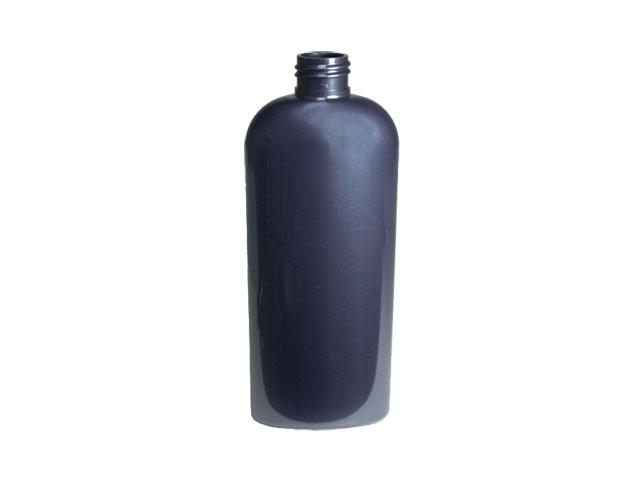 SNEP-22986-DARK BLUE PLASTIC BOTTLE, 12 OZ. PET REVERSE TAPERED OVAL WITH 24/410 FINISH