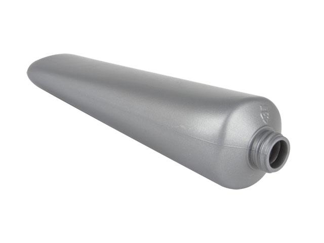 EP-26506-METALLIC SILVER PLASTIC BOTTLE, 8 OZ. HDPE TOTTLE STYLE TUBE WITH A 22/400 FINISH