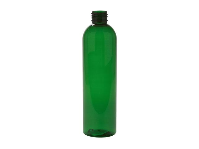 SNEP-27645-GREEN PLASTIC BOTTLE, 8 OZ PET BULLET WITH A 24/410 FINISH