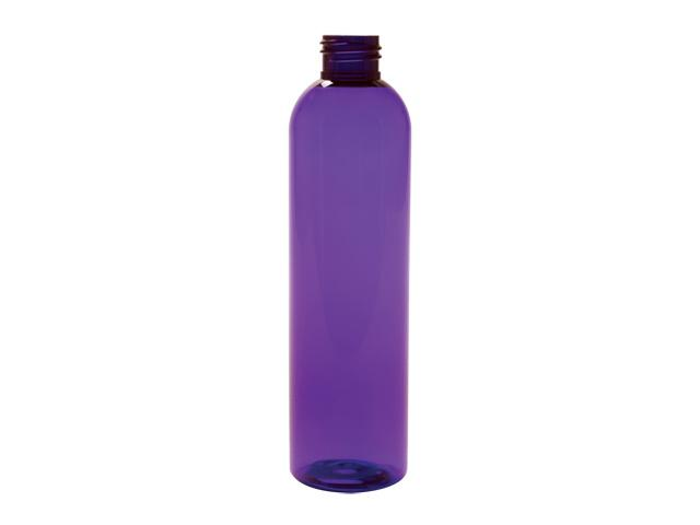 SNEP-27941-PURPLE PLASTIC BOTTLE, 8 OZ PET BULLET WITH A 24/410 FINISH