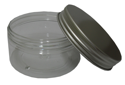 FRKT-0005-150g Clear PET Jar with Aluminium Cap