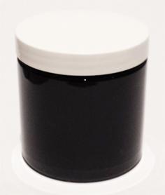 SNJPET500BW-500ml Black PET Plastic Jar with 89/400 White Lid