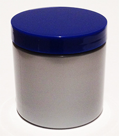 SNJ500SB-500ml Silver PET Plastic Jar with 89/400 Deep Blue Lid