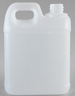 SNJC-80012-1Ltr Natural HDPE Jerrycan 28mm 410 Finish With White Screw Top