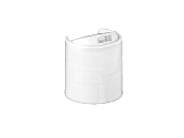 SNDD-26650-WHITE DISPENSING CAP, SMOOTH DISC-TOP CLOSURE WITH A 20/410 FINISH AND A .270 ORIFICE