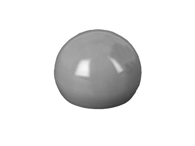 SNDR-27069-DARK SILVER PLASTIC CAP, SMOOTH BALL STYLE CLOSURE WITH A 28/410 FINISH, INCLUDES A FOAM LINER