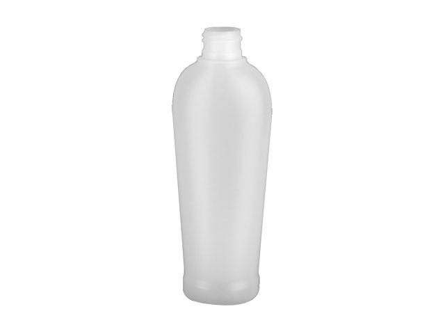 SNEP-25494-NATURAL PLASTIC BOTTLE, 200 ML HDPE REVERSE TAPERED OVAL WITH A 24/410 FINISH, FOOTED