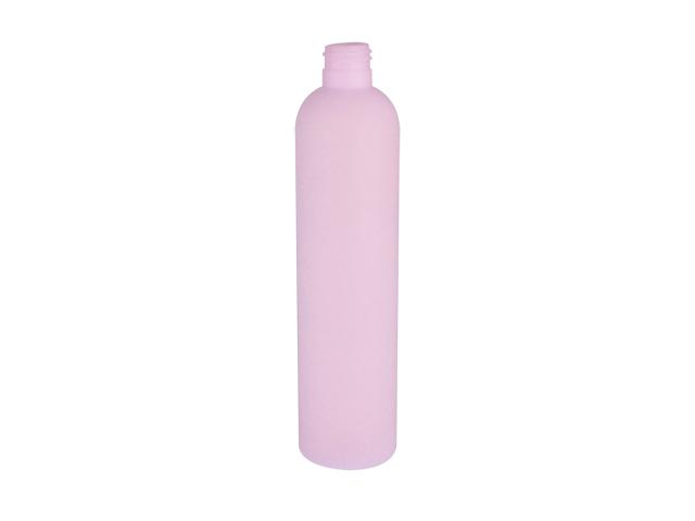 SNEP-25551-LIGHT LAVENDER PLASTIC BOTTLE, 325 ML HDPE BULLET WITH A 24/415 FINISH, SOFT TOUCH, TRANSLUCENT