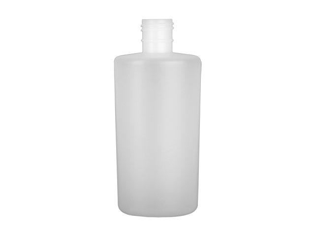 SNEP-26106-NATURAL PLASTIC BOTTLE, 8 OZ. HDPE REVERSE TAPERED OVAL WITH A 24/415 FINISH