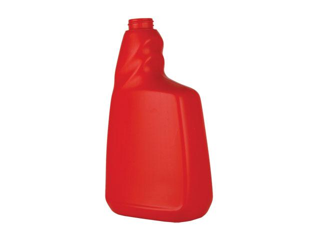 SNEP-26741-RED PLASTIC BOTTLE, 22 OZ. HDPE TRIGGER OBLONG WITH A 28/400 FINISH, TWISTED PISTOL GRIP, LABEL PANEL