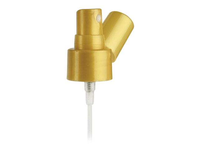 "SNHF-21085-FINE MIST SPRAYER, 24/410 FINISH, SMOOTH, WITH A PEARL GOLD PP HOOD AND A 4 9/16"" DIP TUBE"