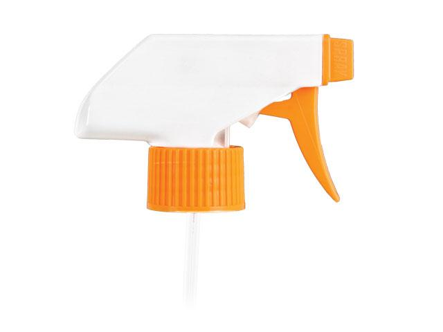 "SNHT-22578-TRIGGER SPRAYER, 28MM Neck, TS-800 SPRAY/STREAM/OFF WITH AN 9 and 1/8"" DIP TUBE-ORANGE/WHITE"