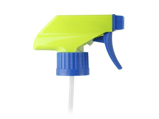 "SNHT-23397-LIME GREEN/BLUE TRIGGER SPRAYER, 28/400 RATCHET FINISH, TS-800-1 ERGO SPRAY/STREAM/OFF WITH AN 8 13/16"" DIP TUBE"