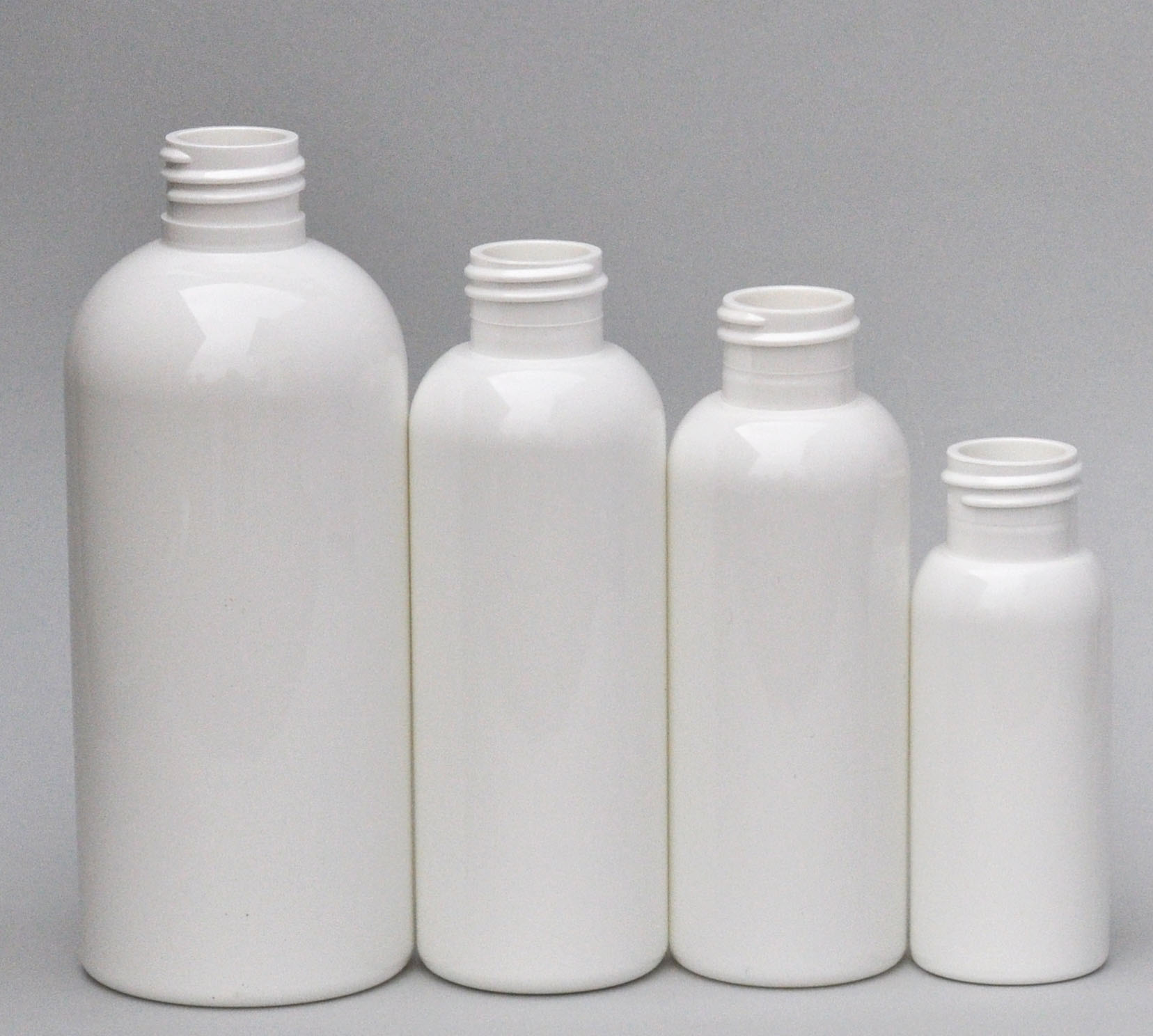 SNEP-250BPETW-250ml White PET Boston Bottle with 24/410 Neck