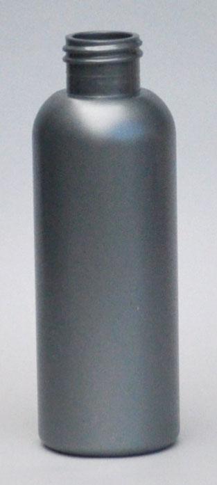 SNEP-125BPETS-125ml Silver PET Boston Bottle with 24/410 Neck