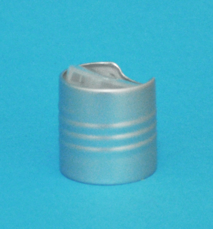 SNDD-14300-SILVER DISPENSING CAP, CLEAR SMOOTH DISC-TOP TO FIT 24/410 NECK